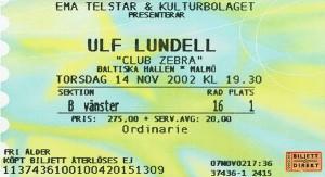 021114 - Biljett - Ulf Lundell