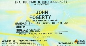 050314 - Biljett - John Fogerty