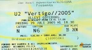 050729 - Biljett - U2