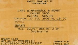 060727 - Biljett - Lars Winnerbäck
