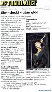 070706 - Aftonbladet - Bryan Adams