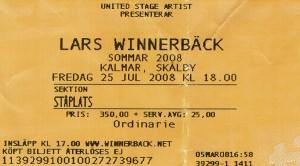 080725 - Biljett - Lars Winnerbäck
