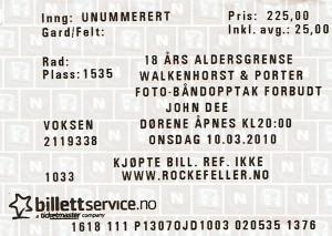100310 - Biljett - Walkenhorst & Porter