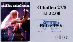 100827 - Biljett - Nilla Nielsen