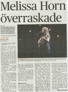 111205 - Östran - Melissa Horn