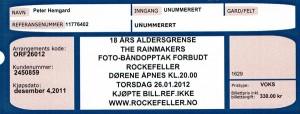 120126 - Biljett - Rainmakers