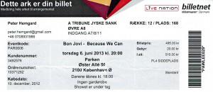 130606 - Biljett - Bon Jovi