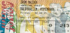 920825 - Biljett - Iron Maiden