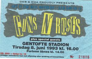 930608 - Biljett - Guns n'Roses