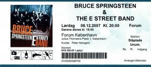 071208 - Biljett - Bruce Springsteen