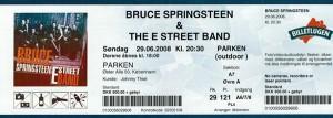 080629 - Biljett - Bruce Springsteen