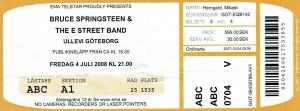 080704 - Biljett - Bruce Springsteen