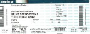 090605 - Biljett - Bruce Springsteen