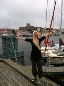 120707 Nilla Nielsen vid hamnen 3