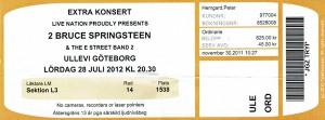 120728 - Biljett - Bruce Springsteen
