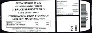 130513 - Biljett - Bruce Springsteen