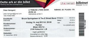 130514 - Biljett - Bruce Springsteen