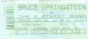 990626 - Biljett - Bruce Springsteen