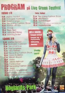 140802 Live Green Festival poster