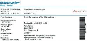 160622 - Biljett - Bruce Springsteen